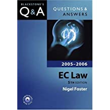 Questions & Answers: EC Law (Blackstone's Law Questions and Answers)