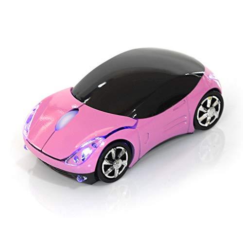 Bewinner Drahtlose Maus für Kinder, 2.4G Drahtlose Maus mit USB-Empfänger, Auto Drahtlose Maus Bluetooth Optische Maus 1600 DPI für Laptop PC Tablet Gaming Office Mac Windows(pink)