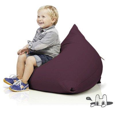 terapy–Sydney Relax Indoor Pouf Pouf enfants–Coussin d'assise en 60x 60x 60cm –, Tissu, aubergine, 60x60x60cm