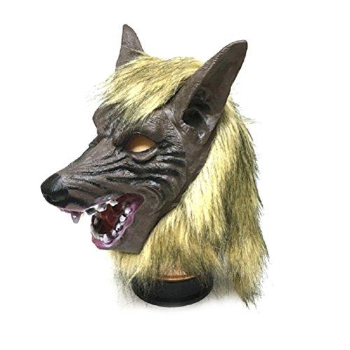 OULII Wolf Latex Maske Horror Masken für Halloween Kostüm ()