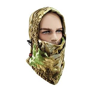LKXHarleya Warm Fleece Balaclava, Camouflage Vollgesichtsmaske Balaclava, Gesichts- Und HalswäRmer, Geeignet FüR Motorrad-Skijagd Snowboard