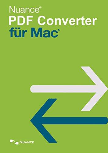 Nuance PDF Converter für MAC 6.0 [Mac Download] - Software-download Nuance