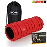 Bionix Red Foam Roller Exercise High Density Trigger Point Grid Muscle Massage Therapy Gym