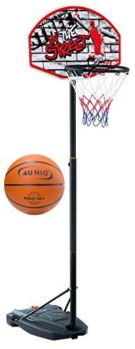 4 Uniq 180 - 230 cm Basketballständer Street mit Basketball Gr.7 (unaufgepumpt) 18659-2