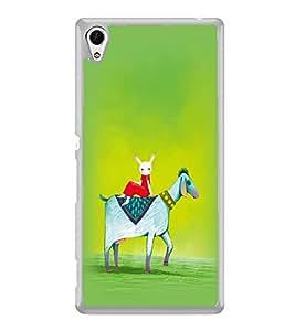 PrintVisa Designer Back Case Cover for Sony Xperia Z3+ :: Sony Xperia Z3 Plus :: Sony Xperia Z3+ dual :: Sony Xperia Z3 Plus E6533 E6553 :: Sony Xperia Z4 (Illustration Goat Rabitt Graphical Design Animal)