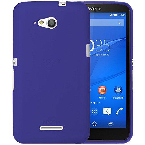 TBOC® Blau Gel TPU Hülle für Sony Xperia E4g E2003 E2006 E2053 Ultradünn Flexibel Silikonhülle