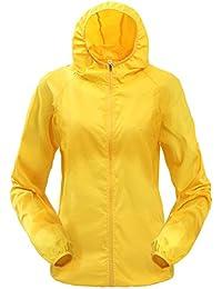 Vertvie Unisex Femme/Homme Veste de Sport à Capuche Ultra-mince Anti-UV Protection Solaire Softshell Veste Coupe-vent Imperméable Séchage Rapide