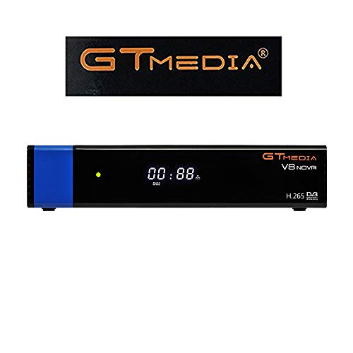 GTMedia V8 Nova DVB S2 TV ricevitore satellitare satellite decoder Support 1080P Full HD PowerVu Biss chiave Newca CCCAM Set top box  Con Built in Wifi   Azul
