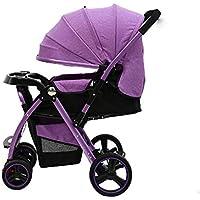 Può Sedersi Può Sdraiarsi Bambino Ombrello Auto Leggero Piega Neonatale Baby Carrozza Trolley 0-6 Mesi Gemello Nuovo Nato Gemelli Trike Seggiolino Auto,Purple