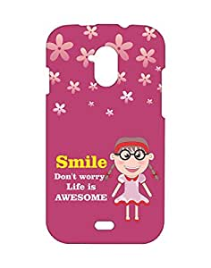 Mobifry Back case cover for Micromax A116 Canvas HD Mobile (Printed design)