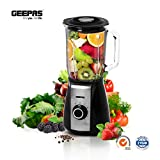Geepas 600W Kitchen High Speed Blender, Stainless Steel Cutting Blade, 5 Speed Control