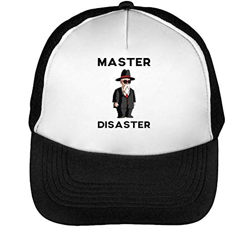 Dragon Ball Z Master Roshi Disaster Gorras Hombre Snapback Beisbol Negro Blanco One Size
