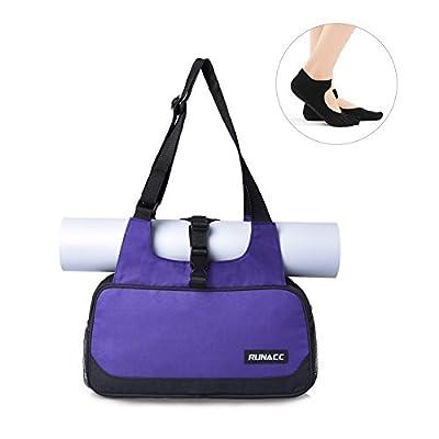 RUNACC Yogatasche Fitnesstasche Sporttasche Lightweight Yogamatte carrier Damentaschen für für viele Yogamatten/Pilates/Fitness mit 1 gratis paar Yoga Toe socks