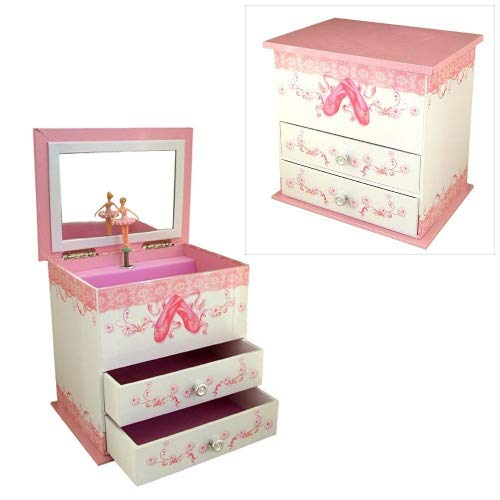Girls Musical Jewellery Box with Ballet Shoes Design by Mele & Co. by Mele & Co