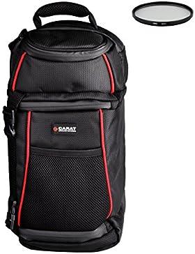 Foto Kamera Tasche Rucksack CARAT SLING Set + UV Filter 55mm für Canon EOS 1300D 1200D 760D 750D 700D 100D 80D