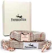 Freudentier® Hundkoppel (2 m) hundhalsband i en uppsättning   inkl. presentförpackning   exceptionellt elegant