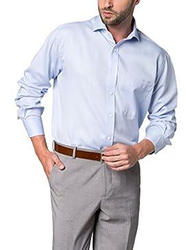 ETERNA Langarm Hemd COMFORT FIT Fantasiebindung strukturiert
