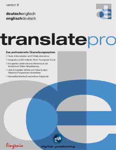 Digital Publishing Translate Pro Deutsch Englisch Version 8