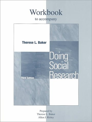 Student Workbook for use with Doing Social Research