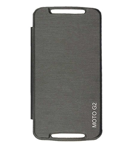 TBZ Premium Flip Cover Case -Black for Motorola Moto G2 2nd Generation