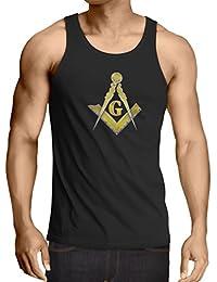 lepni.me Camisetas de Tirantes para Hombre Francmasonería - Masón - masónico - símbolo Cuadrado