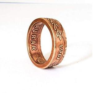 Coinring, Münzring, Versprechen Ring, Island Aurar Münze Ring, handgemachten Ring, Schmuck, Siegelring, Geschenk Versprechen Ring