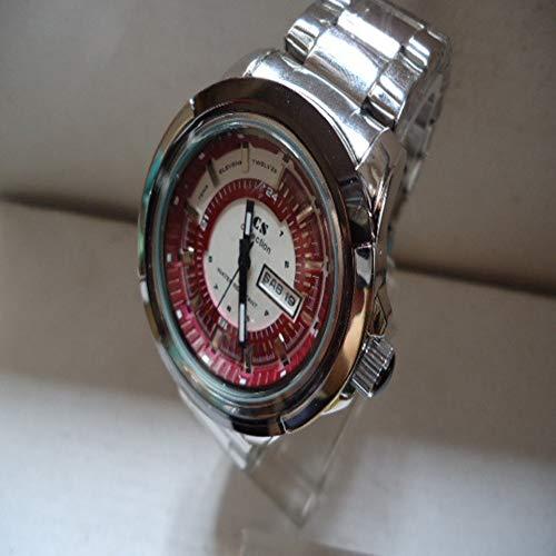 che Uhren Edelstahl Casual Business Herrenuhren cool (Farbe : Red) ()