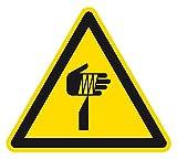 Warnzeichen - Warnung vor spitzem Gegenstand - Folie Selbstklebend - 10 x 10 cm