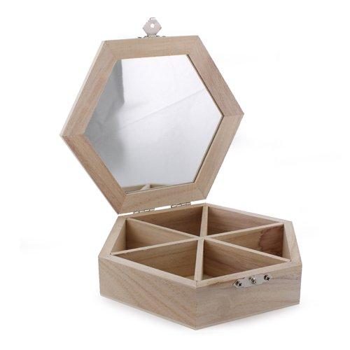 La Fourmi 160 x 40 mm Sechskant-Box (Klappbar Holz-schmuck-boxen,)