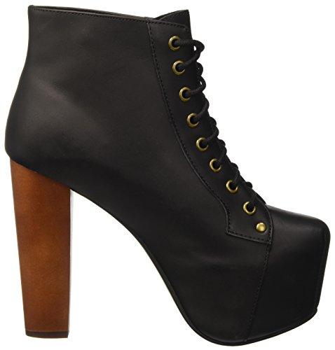 Jeffrey Campbell Lita Leather, Chaussures à Talon à Bout Fermé Femme Noir