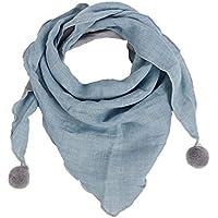 Cupcinu Bufanda Infantil Bufanda de Invierno para Niños Niños Cálidos Pañuelos de Algodón Color Sólido Triángulo Niños Bufanda 1pcs (Azul Claro)