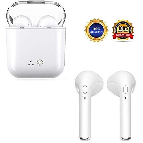 Auriculares inalámbricos, Auriculares Deportivos con micrófono Auriculares Deportivos Apple iPhone con Caja de teléfono X 8 Plus Plus Compatible con Samsung Android