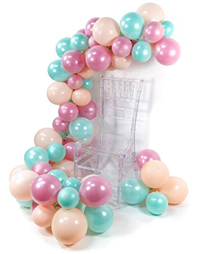 PuTwo Ballons Rosa Mint, 70 Stück Luftballons Satz von Luftballons Pastell Rosa Mintgrün Ballons und Luftballons Rosa, Latexballons für Hochzeit, Taufe Mädchen, Geburtstag Mädchen, Eiscreme Party