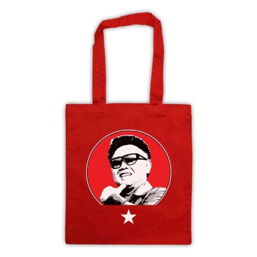 Kim Jong Il Retro Tote Bag Rosso