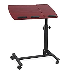 Tinxs portable adjustable folding laptop pc table stand for Pc bed table