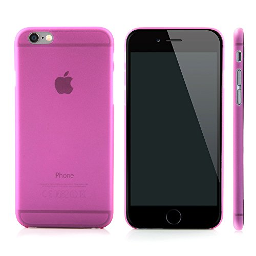 "QUADOCTA iPhone 6 PLUS (5,5"") Ultra Slim Case - Schutzhülle - ""Tenuis"" in Blau - Ultra dünne iPhone Hülle - Leicht transparentes Case Pink"