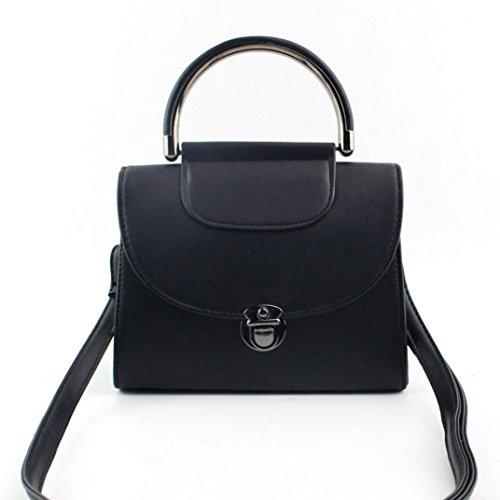 BZLine® Frauen Schultertasche grosser Shopper Damen Handtasche, 20cm*8cm*15cm Schwarz