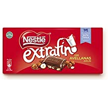 NESTLÉ EXTRAFINO Chocolate con Leche Avellanas - Tableta de Chocolate 123g