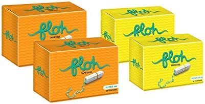 Floh Regular + Super Tampons Pack of 4 (40 pieces)