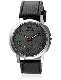 Watch Me Black Dial Black Leather Strap Watch For Boys WMC-005 WMC-005omt