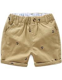 ARAUS Pantalón Corto de Algodón para Bebés Pantalones Casuales Verano Pantalones Deportivos del Aire Libre 1-9 Años
