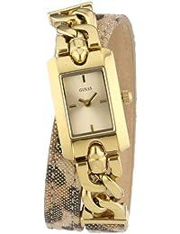 Guess Damen-Armbanduhr XS Analog Quarz Leder W0053L2