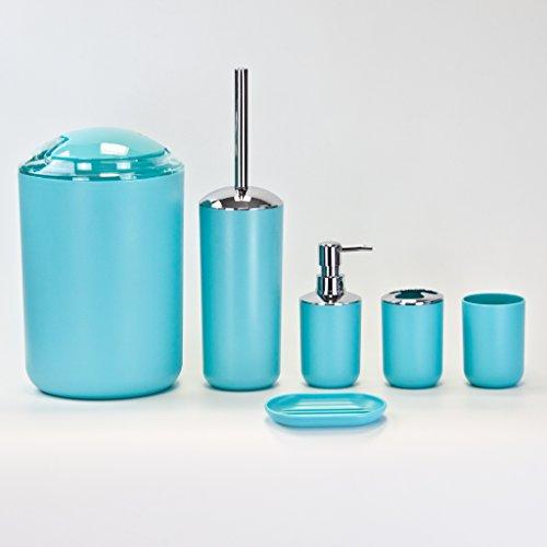 Cuarto de baño juego de accesorios de lujo, 6pieza en negro, azul, beige, blanco o gris oscuro
