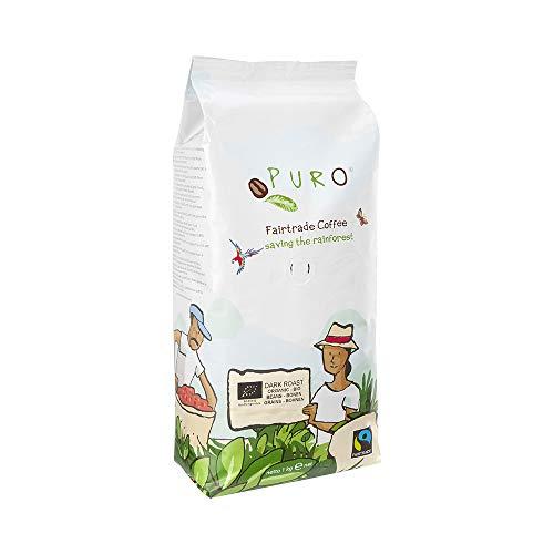 PURO Dark Roast BIO fairtrade Kaffee - 1KG ganze Bohne