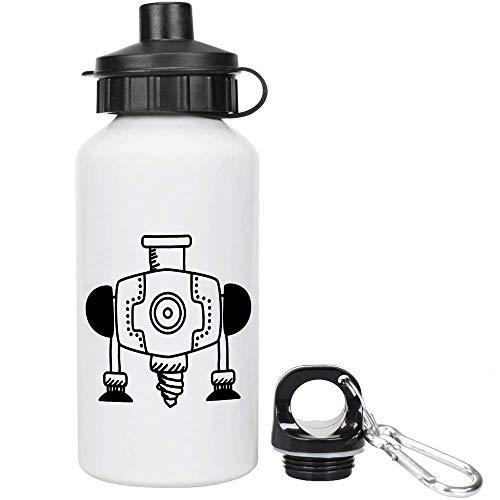 Azeeda 400ml 'Industriebohrer' Kinder Trinkflasche / Wasser-Flasche (WT00023590)