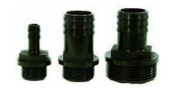 3X Pumpenanschluss 32//38 mm Schlauchtülle Außengewinde