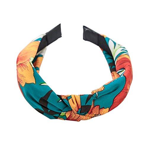Manyo Haarband für Damen, Vintage, Haarband, bedruckt mit niedlicher Schleife, Haarreif, für Party, Geburtstag, Make-up, Party, Geburtstag