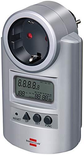 Brennenstuhl Primera-Line Energiemessgerät PM 231 E (Strommessgerät mit Kinderschutz, Energiekostengerät mit 2 individuell einstellbaren Stromtarifen)