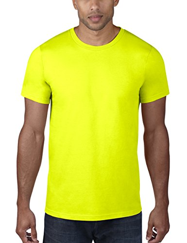 anvil Herren Fashion Basic Tee / 980, Einfarbig, Gr. Large, Gelb (NEY-Neon Yellow 344) (T-shirt Gelbes Tee)