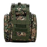 TOPAUP Hiking Waistpacks, Tactical Waist Bag Military Hunting Handbag Waterproof Tactical Laptop Bags Outdoor Fishing Tackle Bag for Camping Walking Cycling Climbing